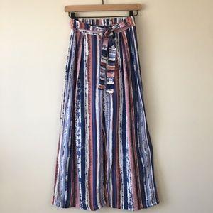 Gypsies & Moondust Tie Front Wide Leg Boho Pants S